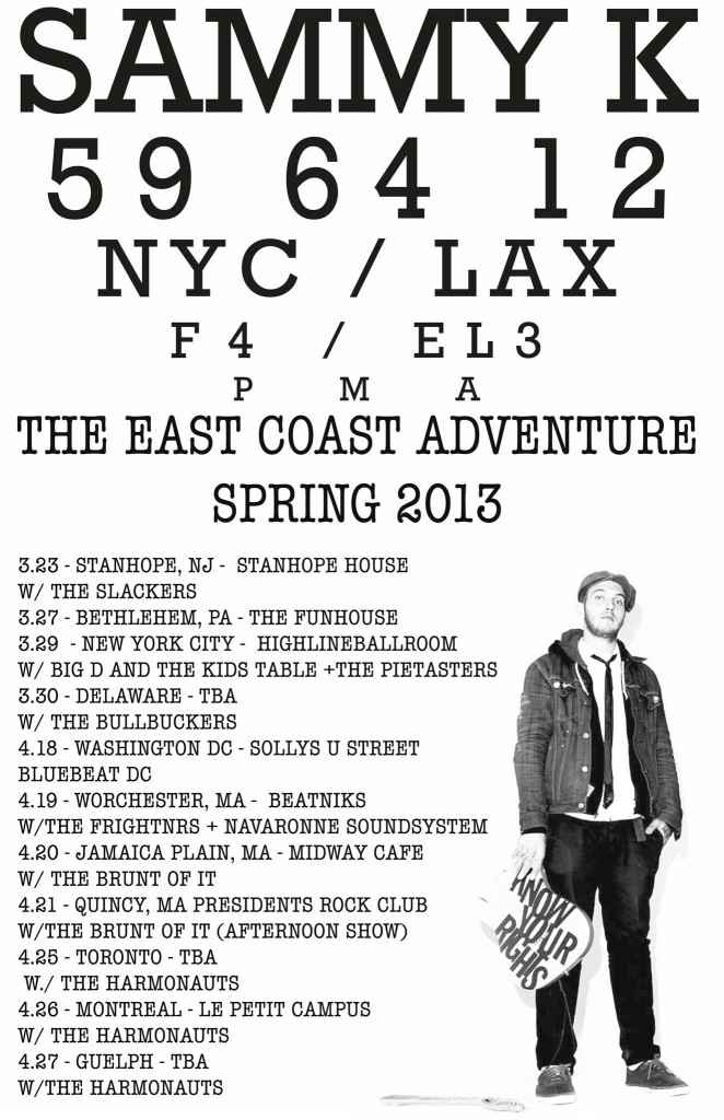 sammy kay 2013 spring tour