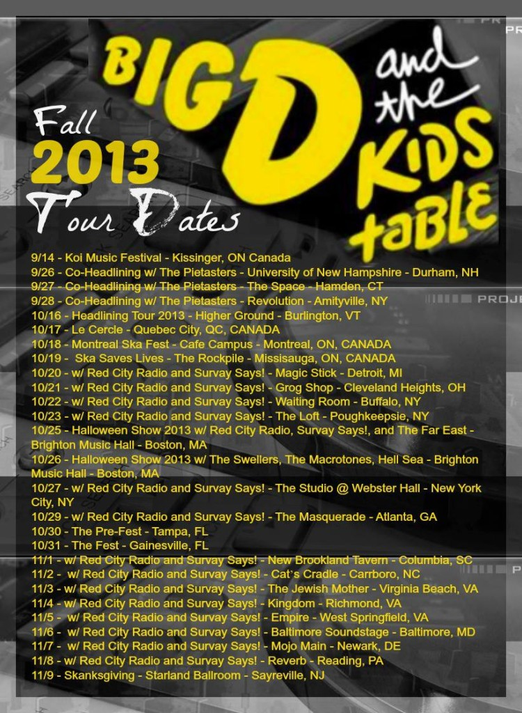 big d 2013 fall tour 1 of 2