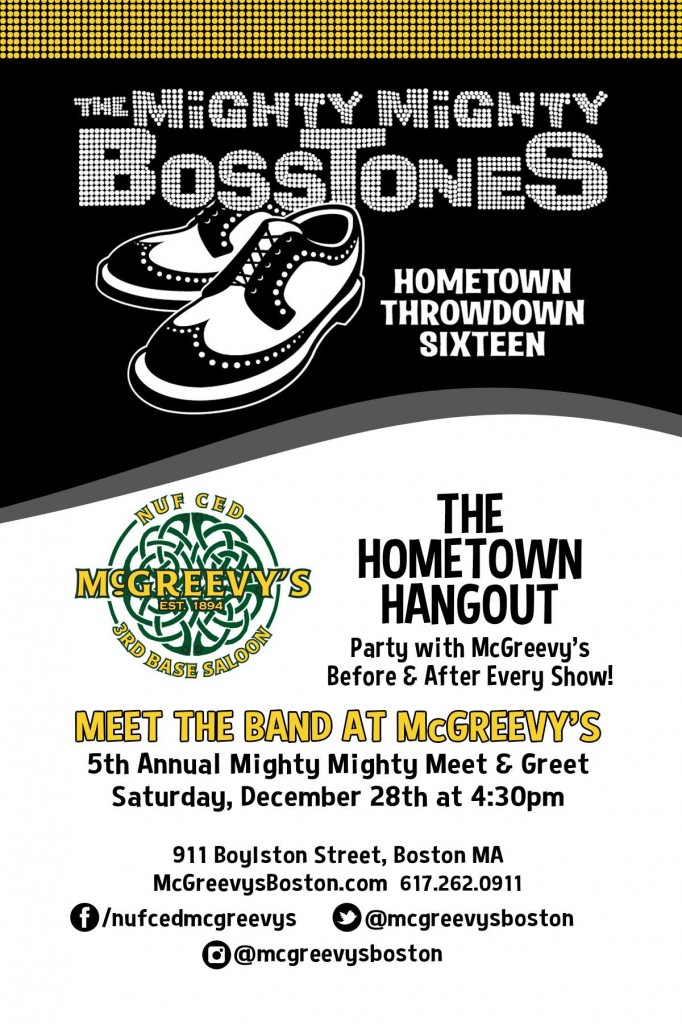 Mighty Mighty Bosstones Meet and Greet at McGreevy's Back Bay