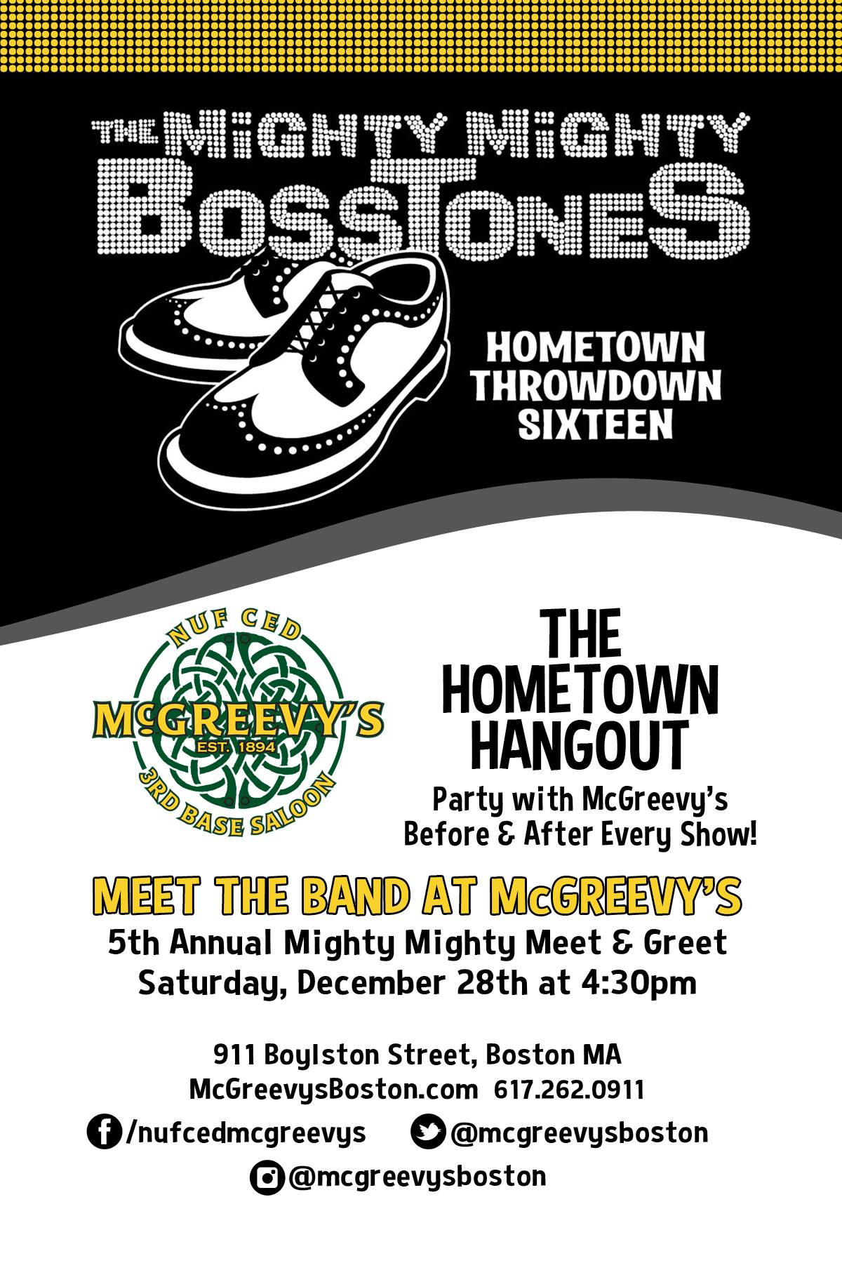 Mighty Mighty Bosstones Meet And Greet At Mcgreevys Bar Boston