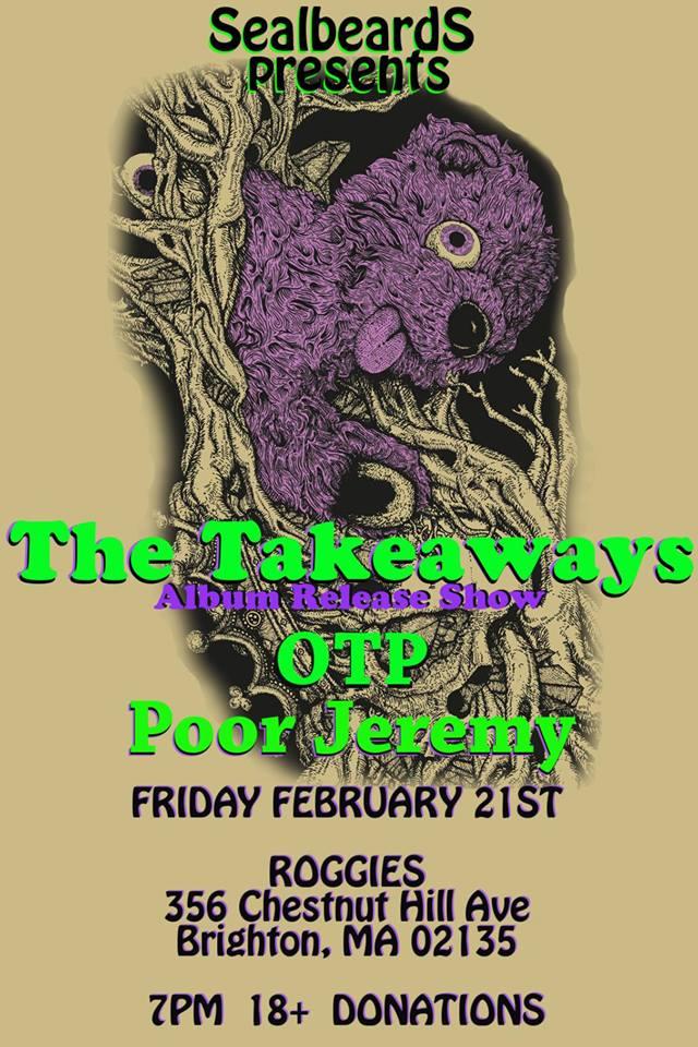 The Takeaways Album Release Flyer
