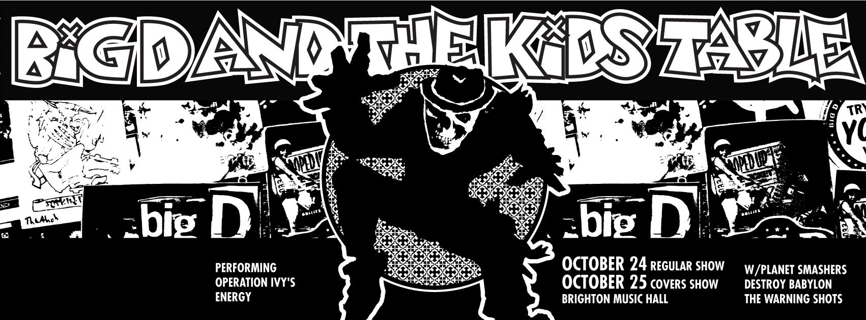 big d and the kids table announce halloween shows and operation ivy