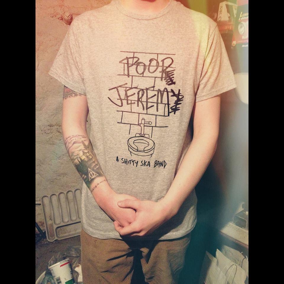 poor jeremy poop jerem t-shirt
