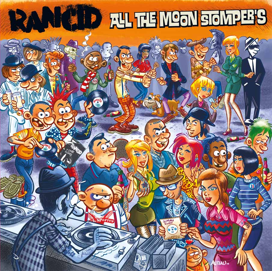 Rancid - All the Moonstompers Cover Art