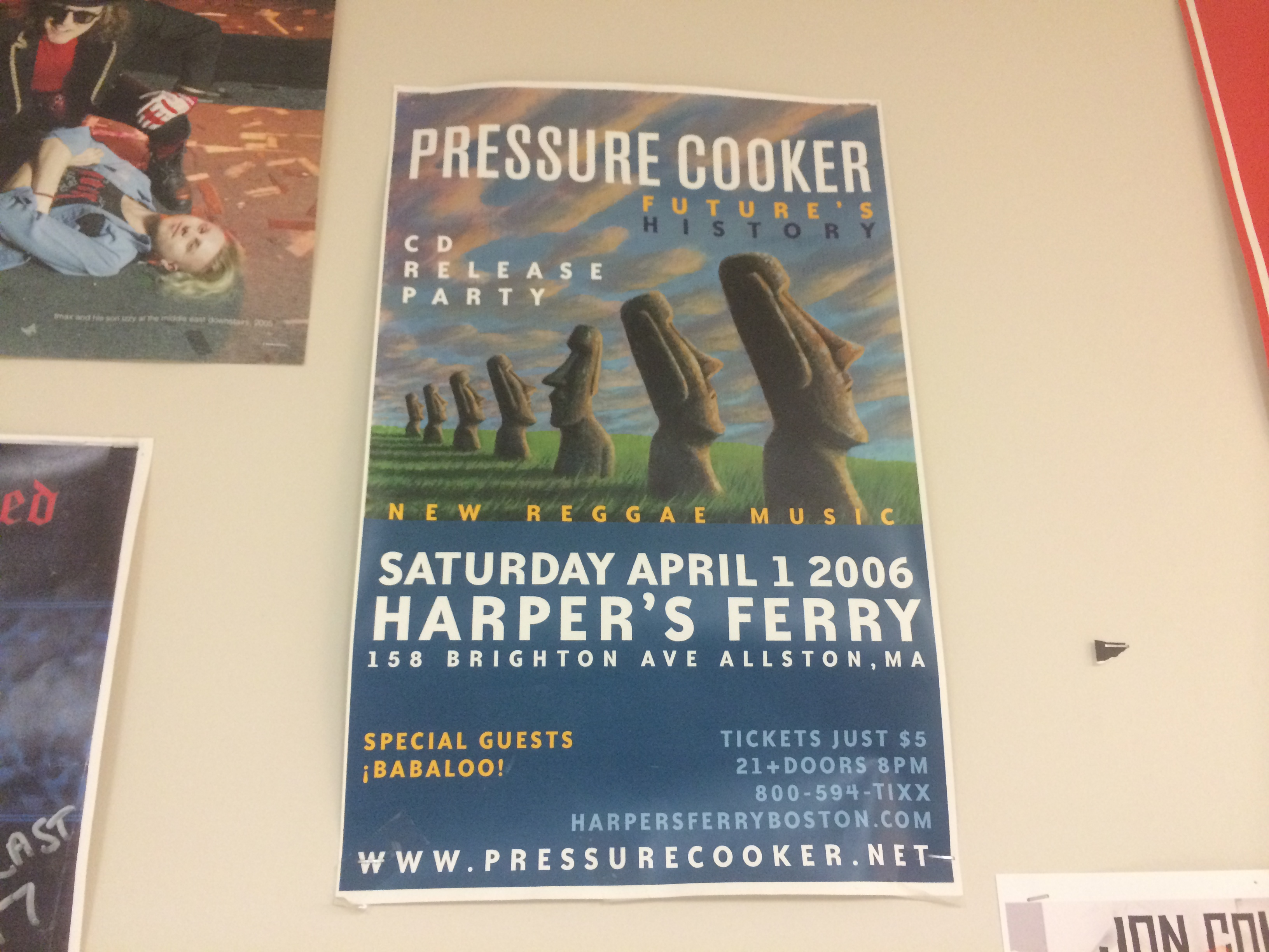 Pressure Cooker 2006 CD Release Show Poster