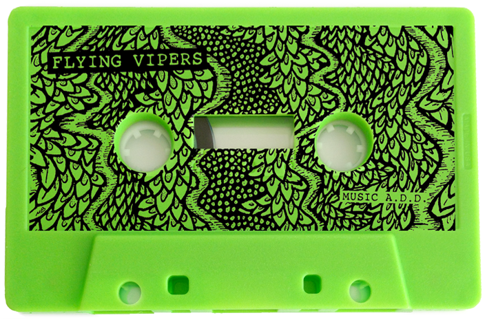 "The Flying Vipers' ""Green Tape"" is available on limited edition cassette"