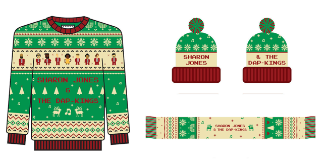 Sharon Jones Holiday Sweaters
