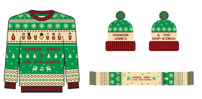 Sharon Jones Holiday Sweaters