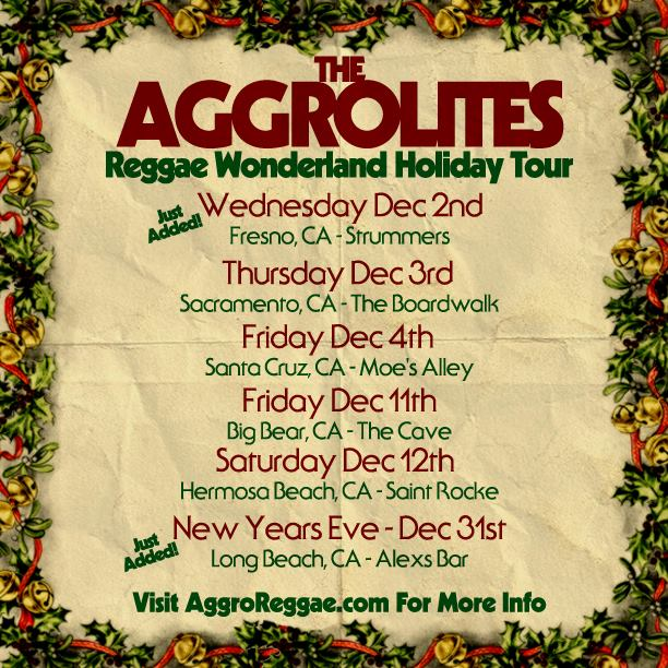 Aggrolites 2015 Reggae Wonderland HOliday Tour