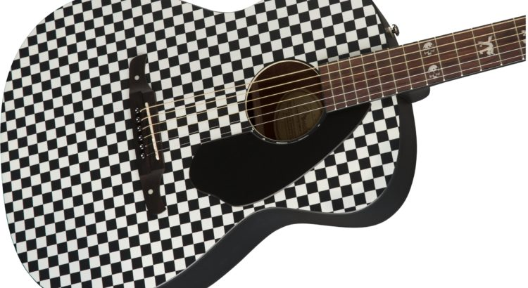 fender tim armstrong checkerboard acoustic guitar